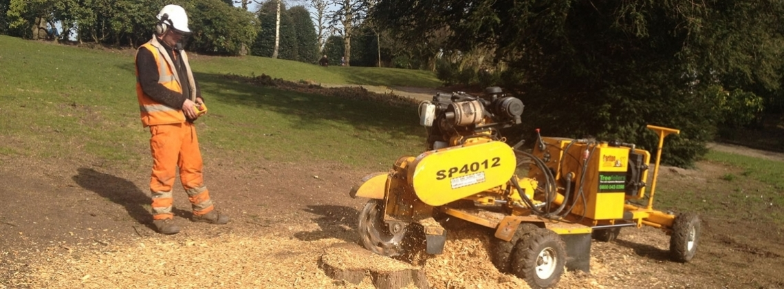 A variety of stump grinding machines suitable for all stumps